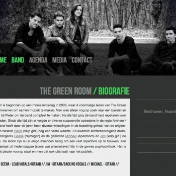 The Green Room | Website | Biogragie