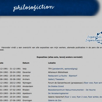Philosoficion | Exposities